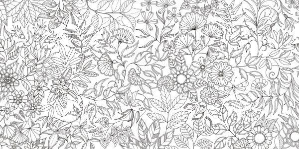 Secret Garden-Flower coloring book by Johanna Basford - Japanese coloring book