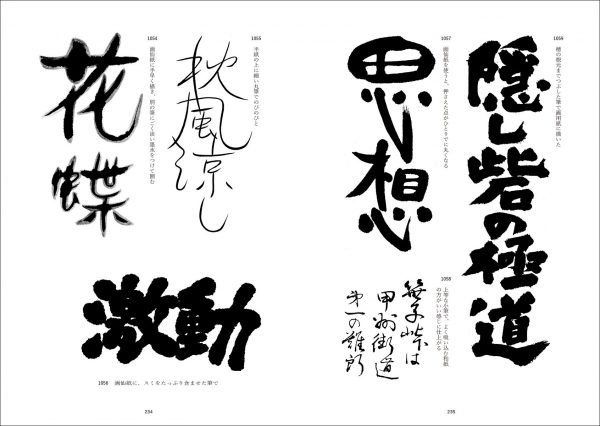 Japanese lettering typography - Drawing Typography 2100 - Japanese graphic design