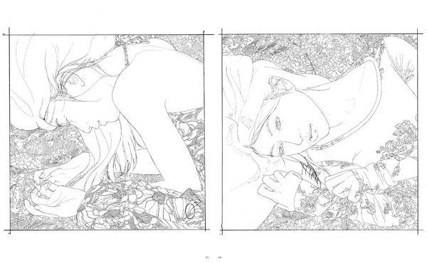 Yasunari Ikenaga - Bijinga coloring book - Japanese art book