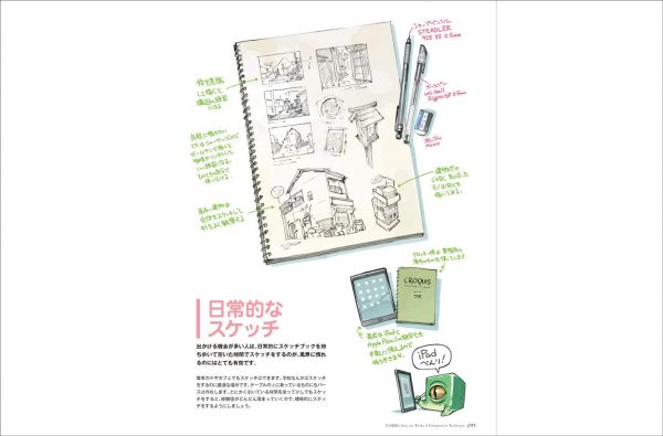 Seiji Yoshida Art works & Perspective technique - Japanese illustration book