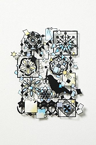 Stained-glass paper cutting art 100 - Seasonal flowers and small animals - Japanese craft book