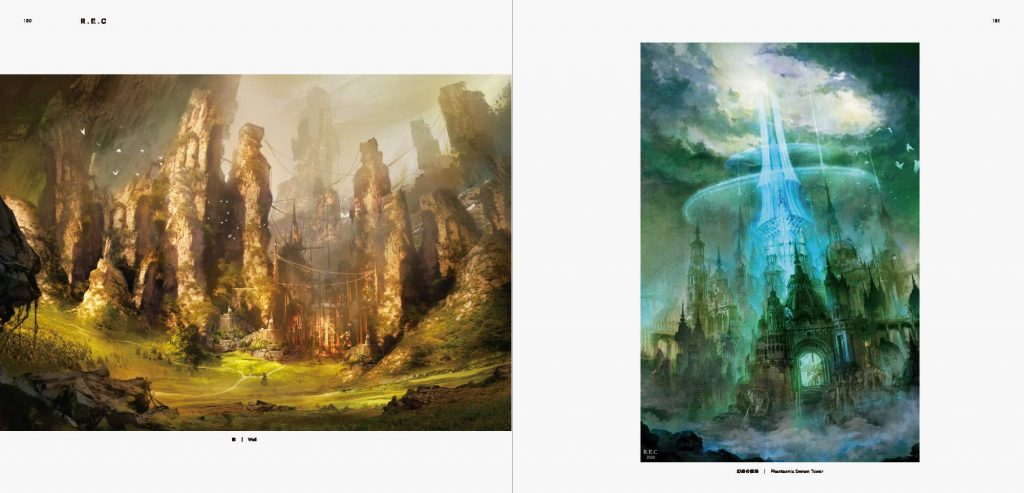 Mysterious Scenes from a Dark Fantasy World-Background illustrations and Scenes