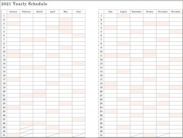 Miroco Machiko - 2021 schedule planner Beginning December 2020 [TypeA]