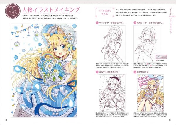 Fairy tale fantasy girl character design & drawing technique by Oriko Sakura- Japanese Illustration Book
