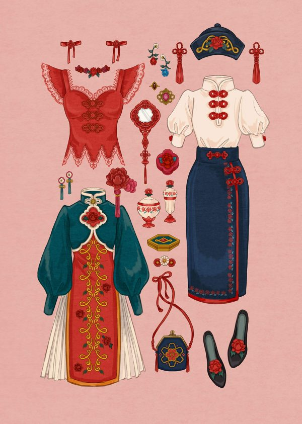 Clothes shop on Suzuran Street by fouatons - Japanese Illustration Book